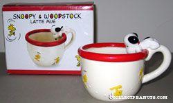 Snoopy and Woodstock Latte Mug
