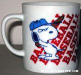Snoopy playing Baseball