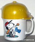 Snoopy hitting baseball Mug