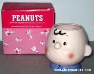 Charlie Brown figural head mug