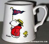Snoopy & Woodstock fans with 'Rah' Flag mug