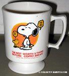 Snoopy & Woodstock sleeping standing Mug