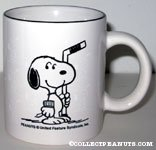 Snoopy Holding Hockey Stick 'Snoopy's 22nd Senior World Hockey Tournament 1996' Mug