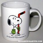 Snoopy Holding Hockey Stick 'Snoopy's  Senior World Hockey Tournament 1988' Mug