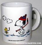 Snoopy Holding Hockey Stick 'Snoopy's  Senior World Hockey Tournament 1991' Mug