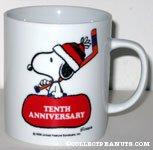 Snoopy Holding Hockey Stick and Bag 'Snoopy's 10th Anniversary Senior World Hockey Tournament 1984' Mug
