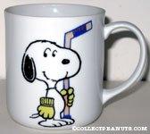 Snoopy Holding Hockey Stick 'Snoopy's  Senior World Hockey Tournament 1982' Mug