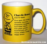 Charlie Brown definition Mug