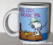 Snoopy & Woodstocks fishing 'Reel Cool Grandpa' Mug