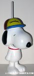 Figural Snoopy Cup with Straw 'Carrowinds'
