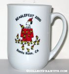 Snoopy & Woodstock on doghouse 'Beaglefest 2000' Mug