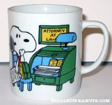 Snoopy 'attorney at law' Mug