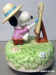 Artist Snoopy at Easel