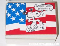 Snoopy & Woodstock dancing 'America You're Beautiful!' Music Box