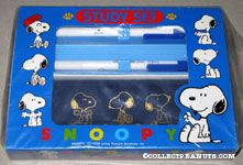 Snoopy Study Set with Pens and Case