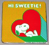 Snoopy Laying in Heart Tin Colored Pencil Case