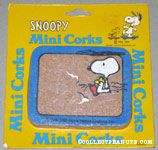 Snoopy Helicopter with Woodstock holding spray can Mini Cork Board