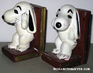 Snoopy standing on a book Bookends