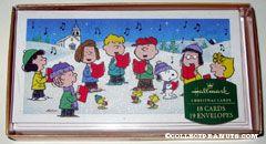 Peanuts Gang Carolling Christmas Cards