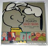 Snoopy on Charlie Brown's head Vintage-look Sticky Notes