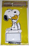 Snoopy hugging Woodstock Wood n' Wipe Offs Memo Board