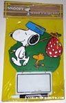 Snoopy with Hobo Pack and Woodstock Wood n' Wipe Offs Memo Board
