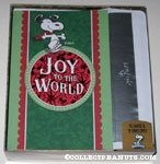 Snoopy dancing 'Joy to the World' Box of Cards