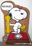 Snoopy & Woodstock Phone Bulletin Cork Board