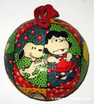 Snoopy tickling Lucy Ornament