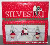 Snoopy, Charlie Brown and Lucy faces on clear stars Resin Ornament Set
