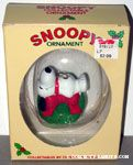 Snoopy Laying on top of wreath Ornament Ornament