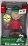 Charlie Brown holding ornament Holiday Clip On Ornament