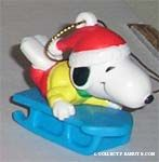 Snoopy on Blue Sled