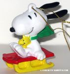 Snoopy and Woodstock on Sled
