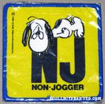 Snoopy exhasted 'Non-Jogger' Patch
