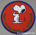 Snoopy flexing 'Raw Strength & courage' Patch