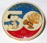 Peanuts 50th Anniversary McDonald's Pin