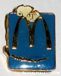Snoopy Laying on giant M logo Blue McDonald's Pin