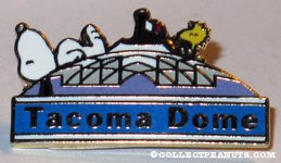 Snoopy & Woodstock on top of 'Tacoma Dome' Pin