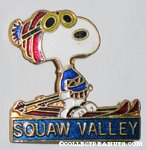 Snoopy skiing 'Squaw Valley' Pin