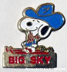 Cowboy Snoopy skiing 'Big Sky' Pin