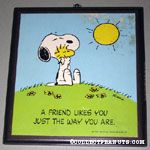 A friend likes you just the way you are. Plaque
