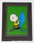 Charlie Brown with Kite Framed Print or Playing Card