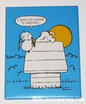 Snoopy on Doghouse 'Allergic to Morning' Plaque