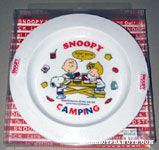 Charlie Brown, Sally & Snoopy having picnic 'Snoopy Camping' Plastic Plate