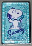 Snoopy holding flower Playing Cards