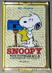 Snoopy reading letter at mailbox Playing Cards