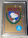 Snoopy wearing bowtie on crest Playing Cards
