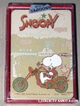 Snoopy & Woodstock riding motorcycle Playing Cards