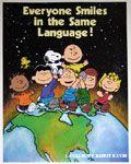 Peanuts Gang on Globe